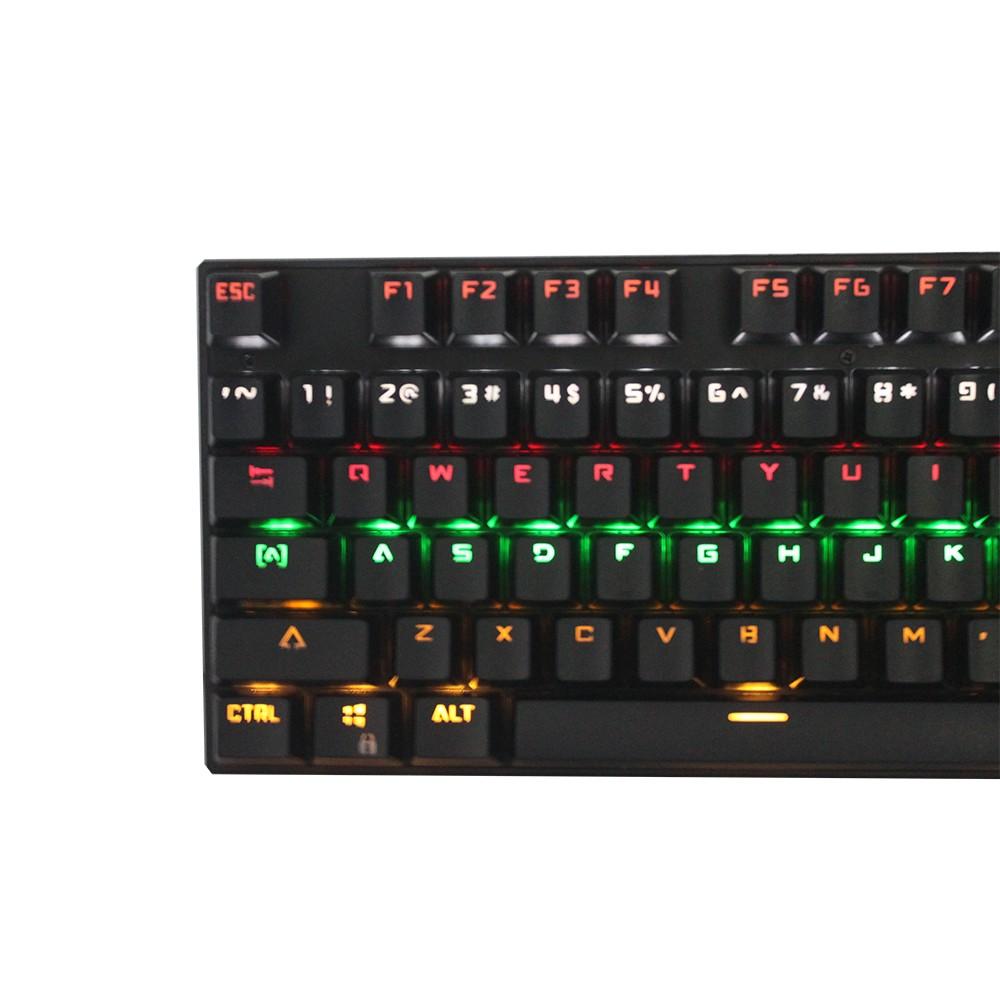 GAMEDIAS 104 Key USB verdrahtete ergonomische mechanische Gaming ...
