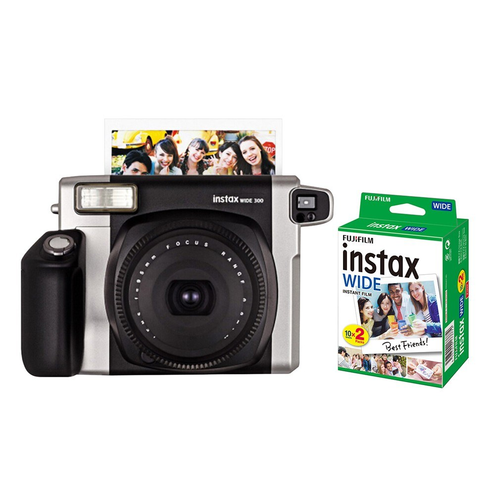 Fujifilm Instax WIDE300 Instant Camera With 20 Sheets instant Film Photo Paper Sales Online black - Tomtop