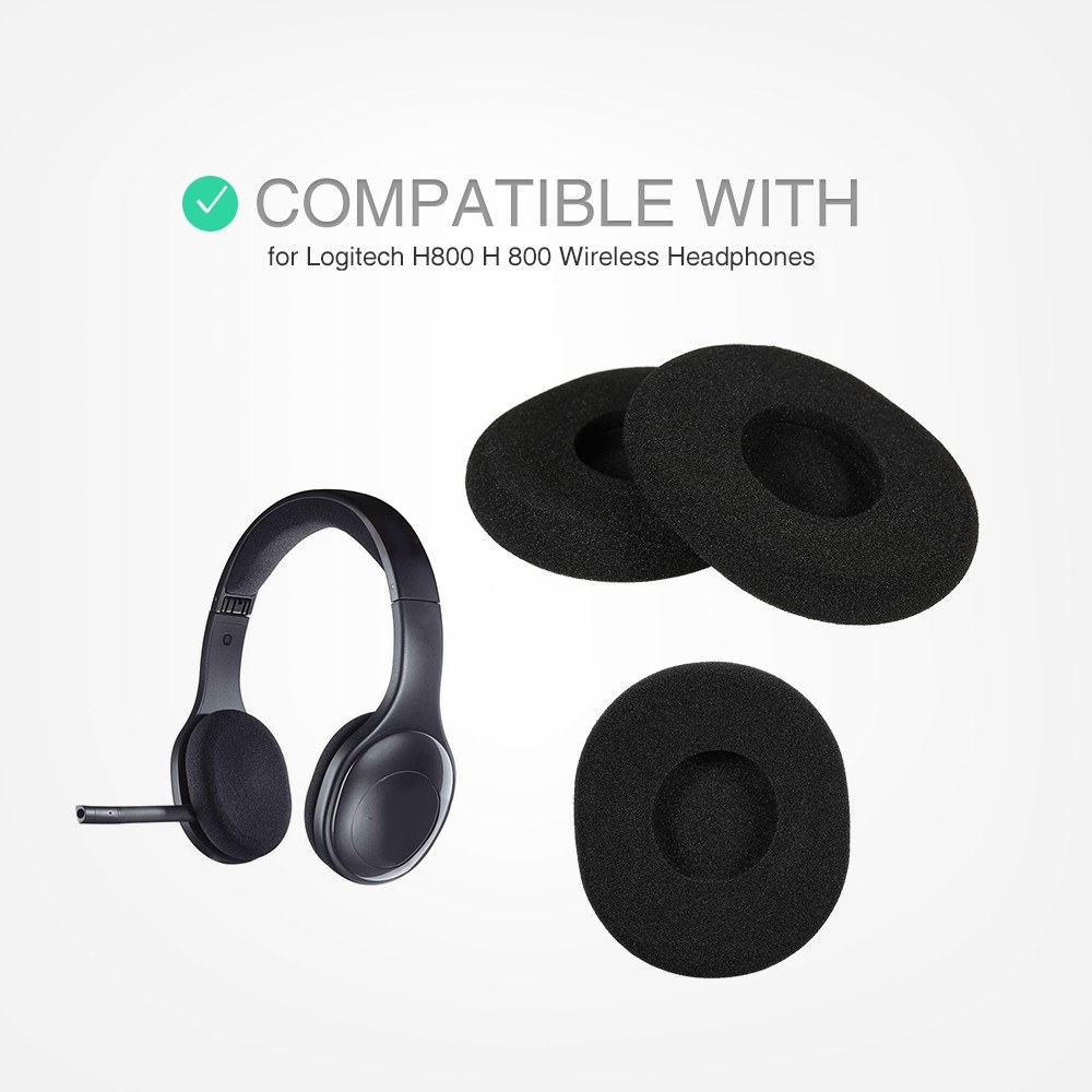 Replacement Earpads Ear Pad Cushion Soft Foam For Logitech H800 H 800 Wireless Headphone Earphone