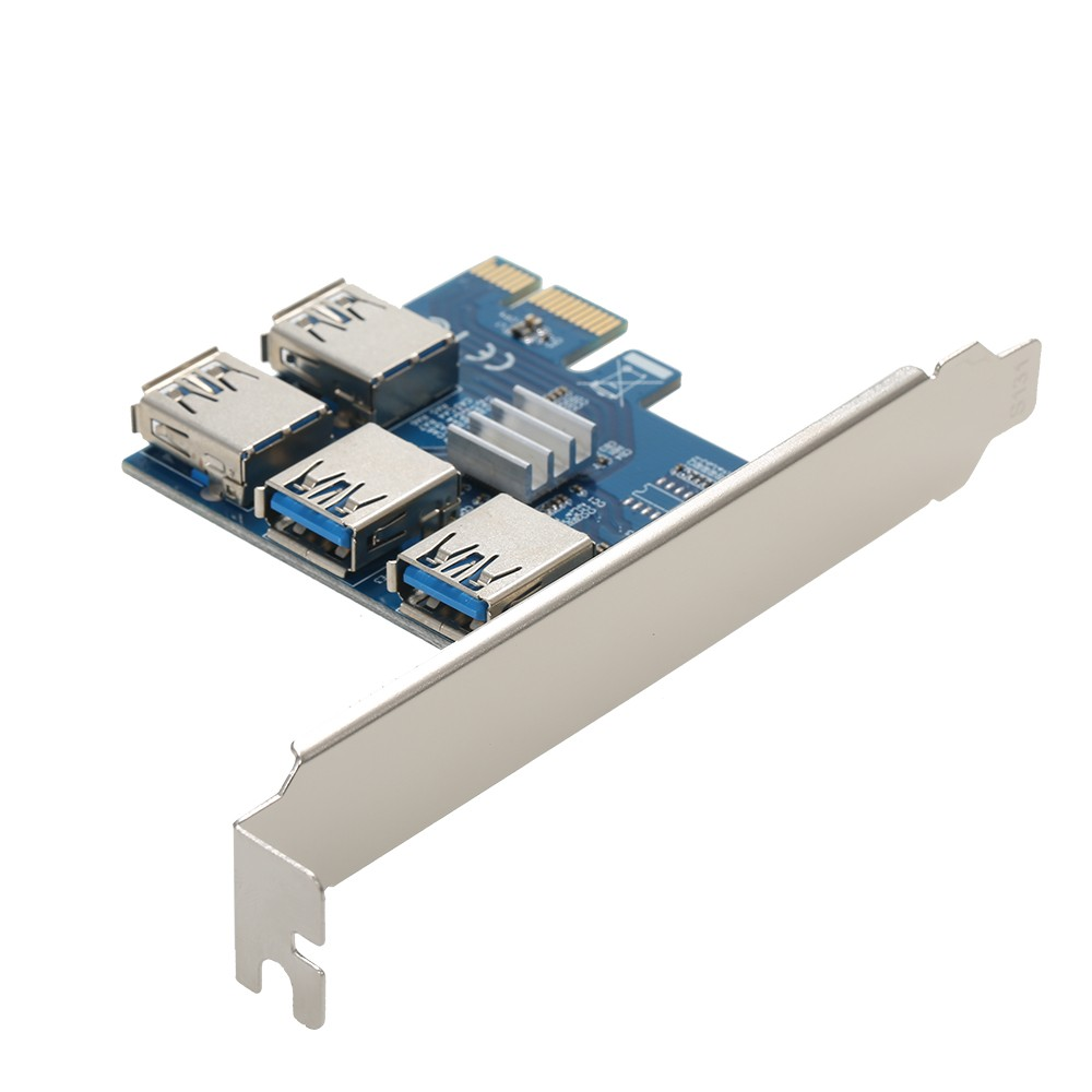 Adapter Converter Pci E 1 To 4 Express 16x Slot External Riser Card Extender 1x Slots For Mining Miner Eth Btc In Pcie Board Usb30 Rabbet Multiplier