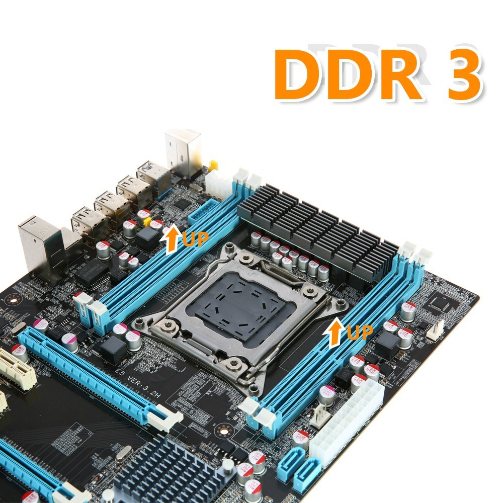 Runing E5 32h Motherboard Atx Sata 30 And Usb Layout Diagram 3 Ports Lga2011 I7 Serial V1 V2 4 Dimm Slots Ddr3 Memory Up To 64gb Capacity