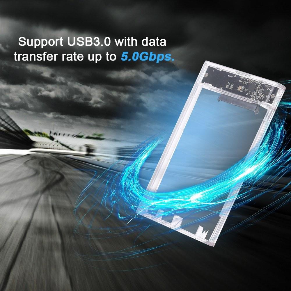 2 5 Inch HDD Case USB3 0 to SATA HDD Converter Adapter External Case Hard  Disk Drive Box External HDD Enclosure