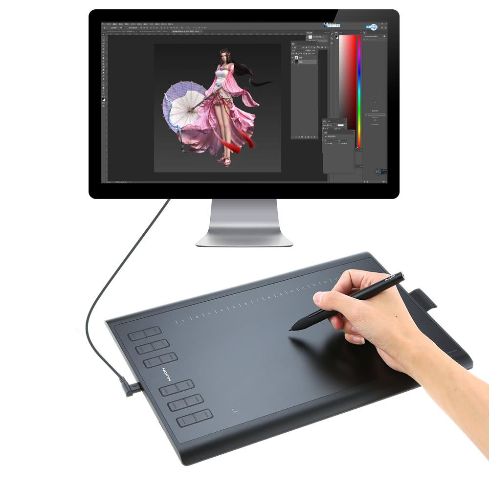 Nejlepsi Huion Graficke Kresleni Tablet Micro Usb Novy 1060plus S