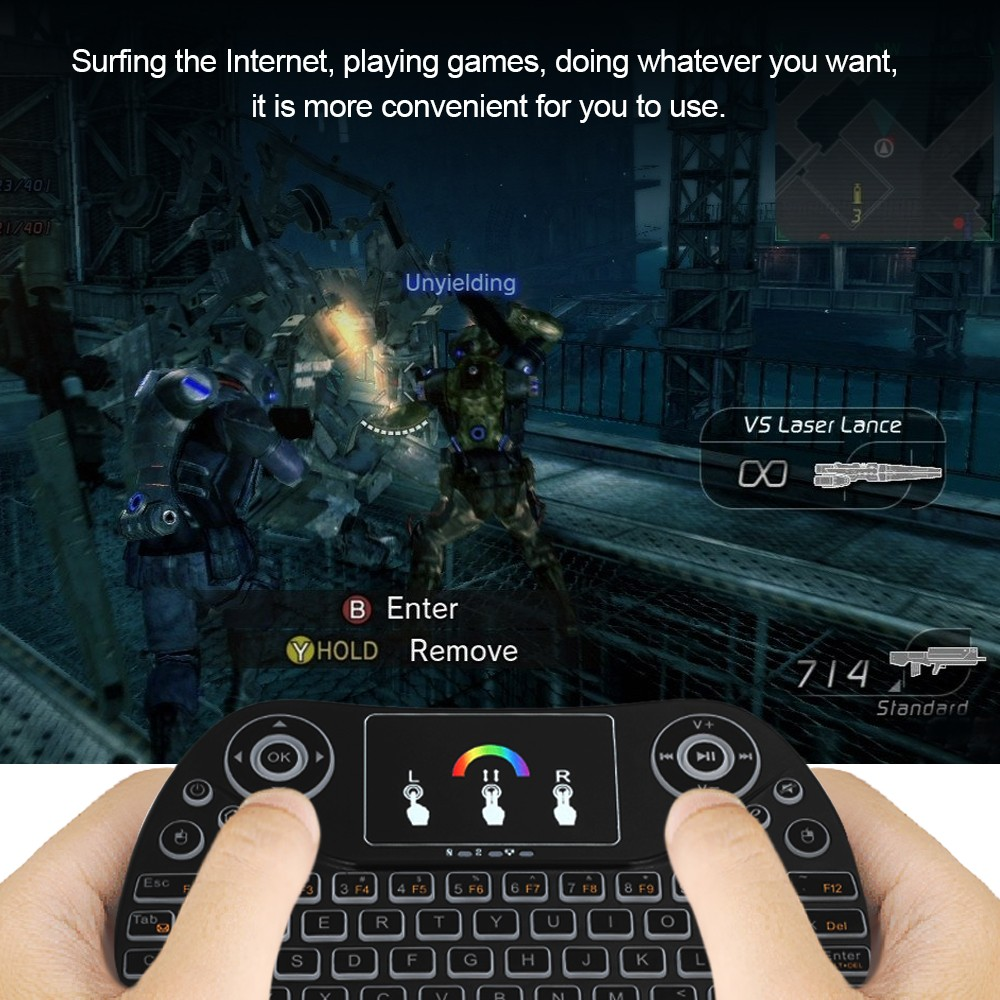 Portable 2 4G RGB Wireless Keyboard Touchpad Backlit Mini Keyboard with USB  Receiver Plug and Play for Android TV Box Tablet Black Sales Online -
