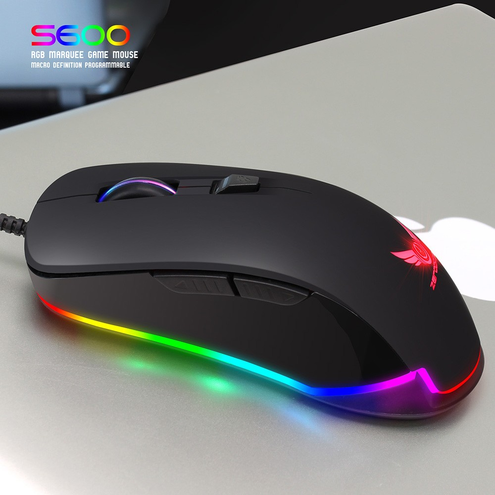 Best ZERODATE S600 High Performance Gaming Mouse Professional RGB Sale  Online Shopping | Cafago com