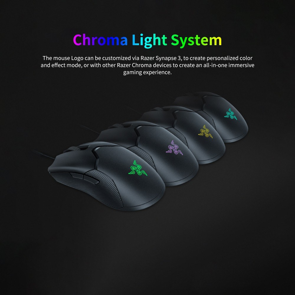 Razer Viper Wired Gaming Mouse 16000DPI RGB Computer Mice PAW3390 Optical  Sensor 60g Lightweight SpeedFlex Cable DPI On-board Storage Chroma Lights