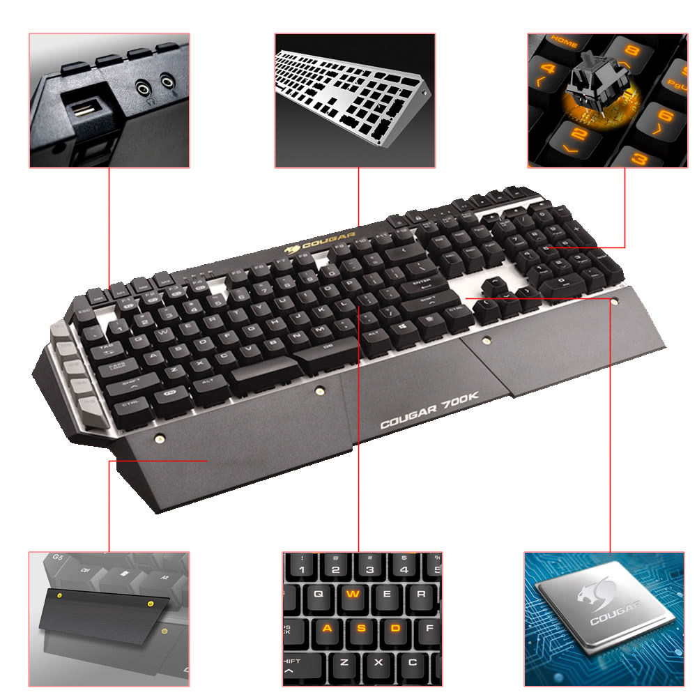 9744ceb5cb9 Cougar 700K Professional Gaming Esport Cherry MX Mechanical Keyboard Black  Switch 6 Programmable Keys LED Backlit USB Wired High-speed Sales Online -  Tomtop