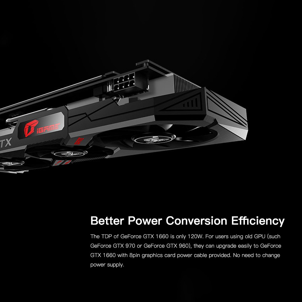 Colorful iGame GeForce GTX 1660 Ultra 6G Graphic Card