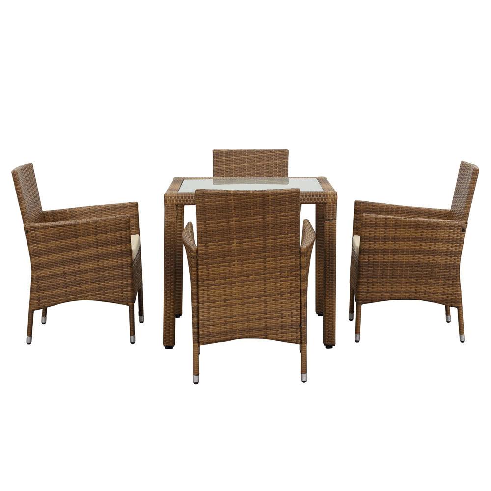 Ikayaa 5pcs juego de mesas de comedor para patio exterior for Comprar muebles exterior