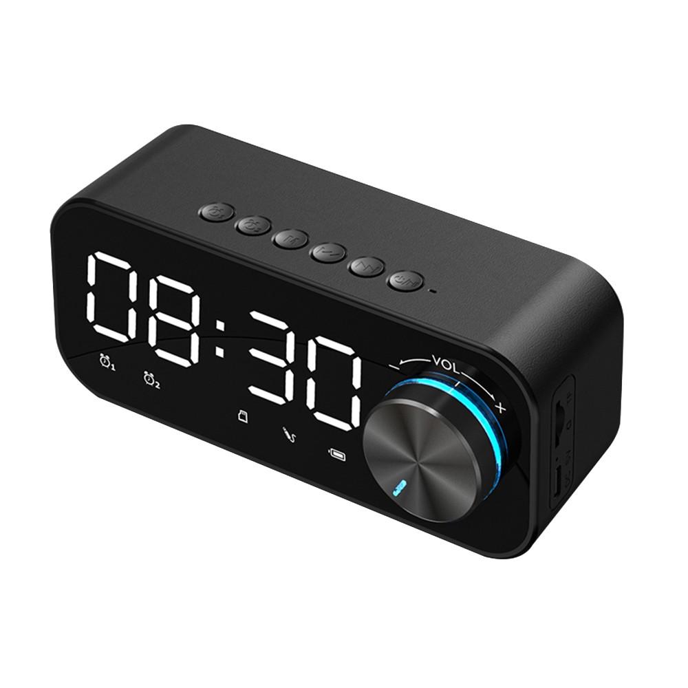 cafago.com - 46% OFF BT 5.0 Speaker LED Display Night Lamp 3 Adjustable Brightness Levels,free shipping+$18.77