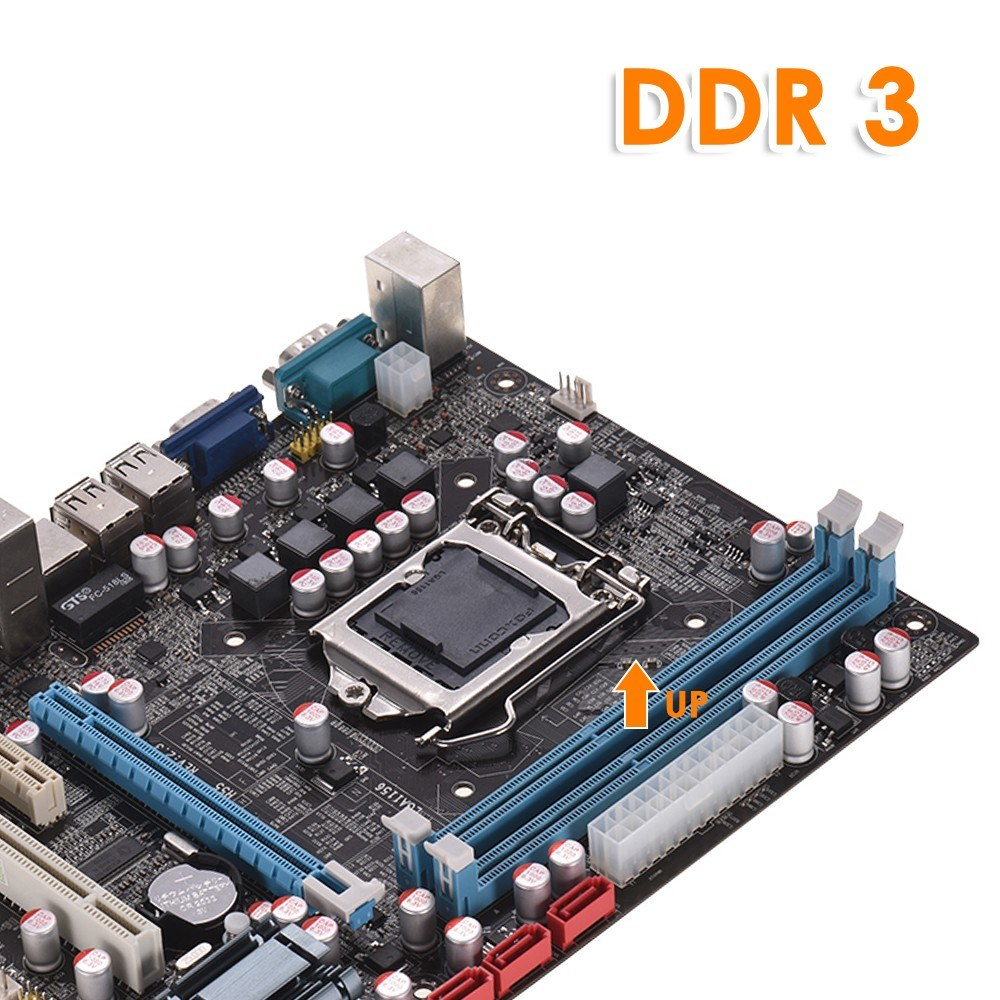 H55 Motherboard New LGA1156 DDR3 Supports I3 I5 I7 CPU Motherboard