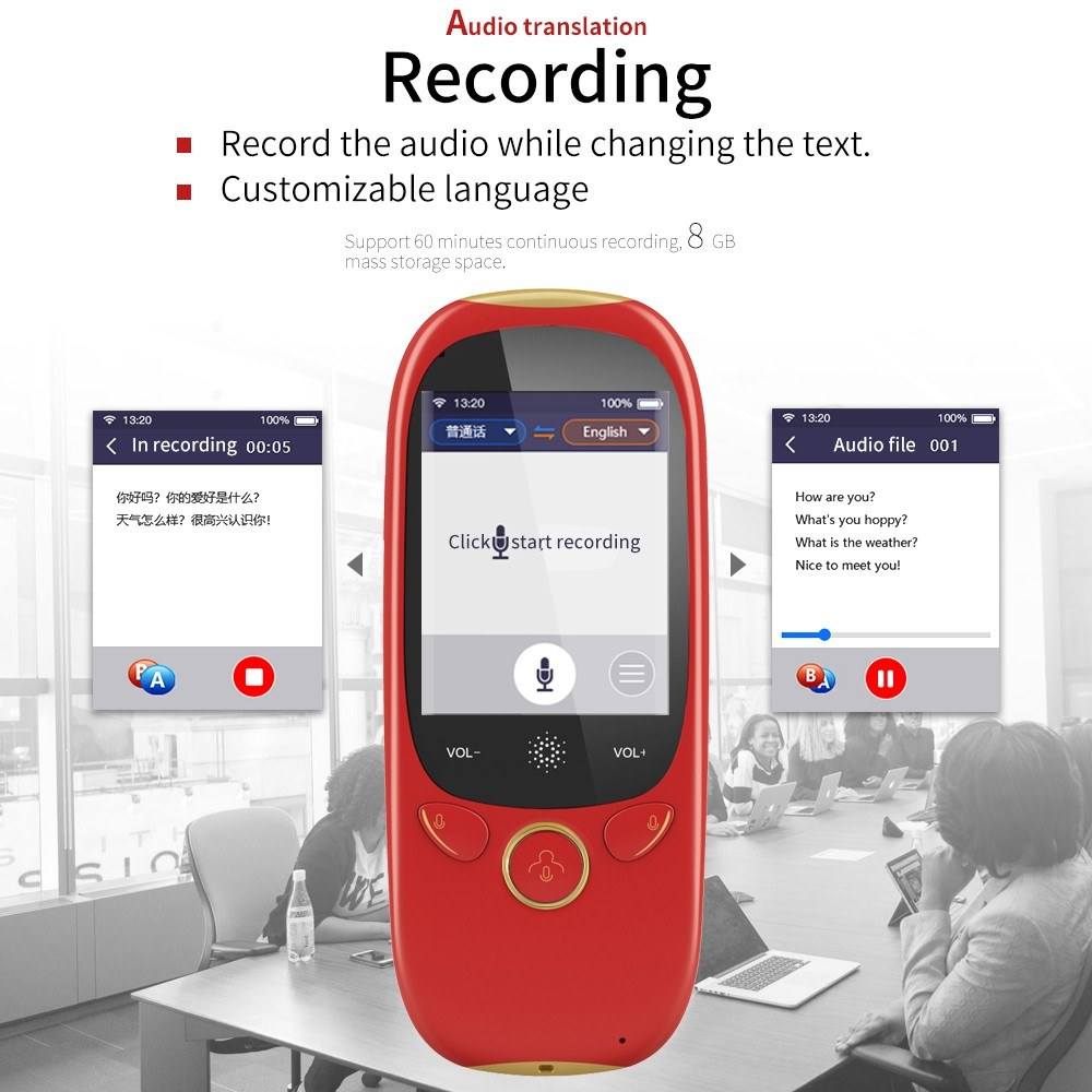 Boeleo K1 Translator Real Time Instant Smart Voice Translator Device