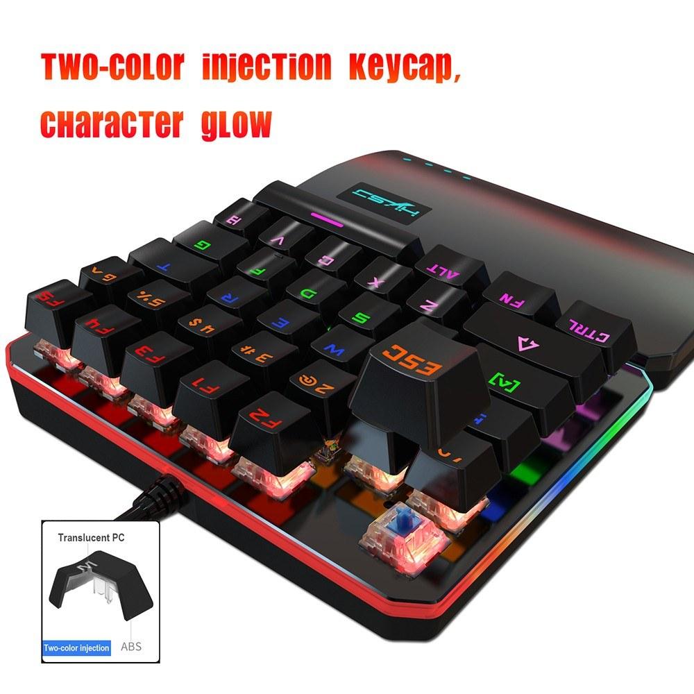 Best HXSJ V200 Keyboard Green Axis 35Keys Gaming Mechanical Mini USB black  Sale Online Shopping | Cafago com