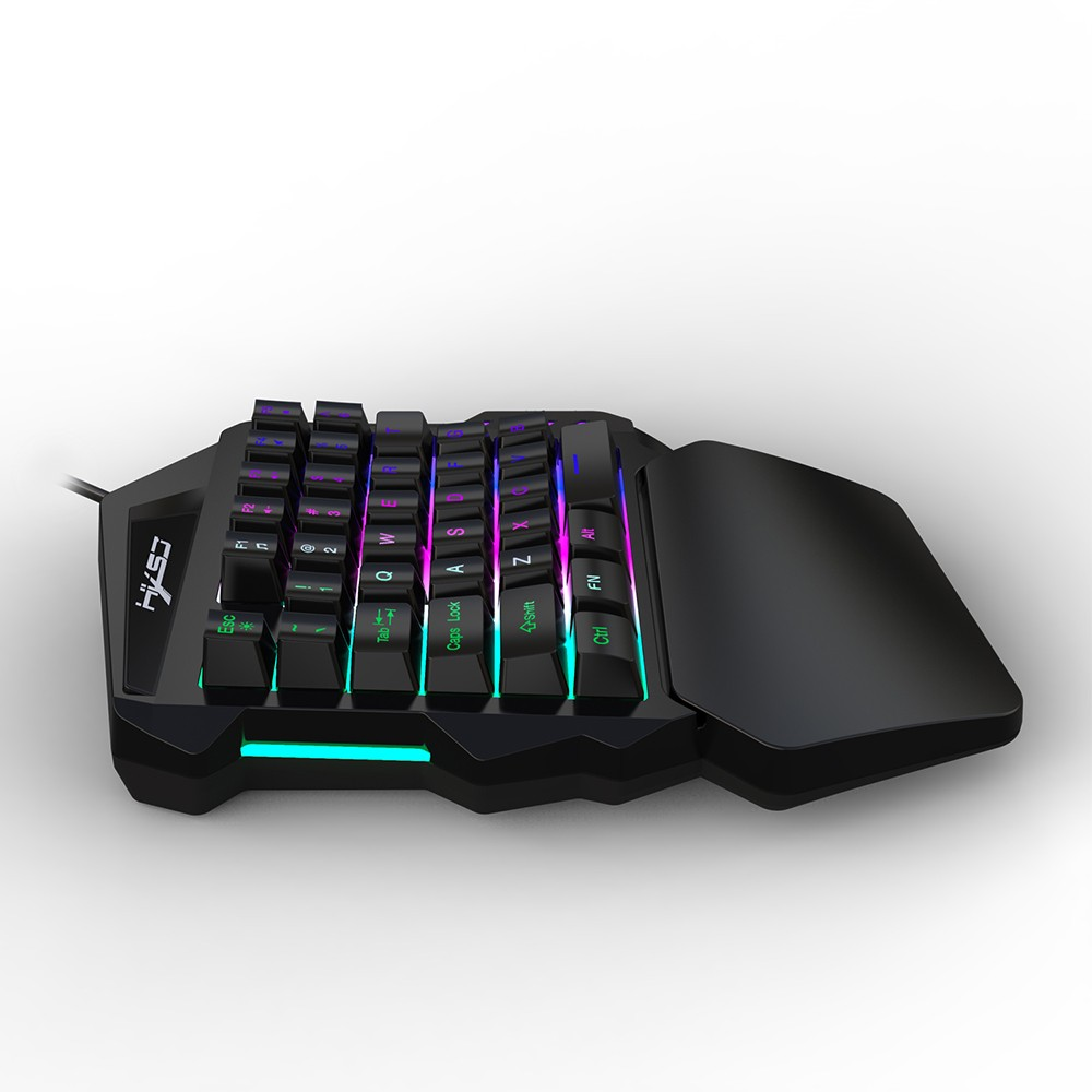 HXSJ V100 35 Key Single Hand Membrane Mini 35 Keys Gaming Keyboard with USB  Wired for PUBG LOL CS Gamer Sales Online black - Tomtop