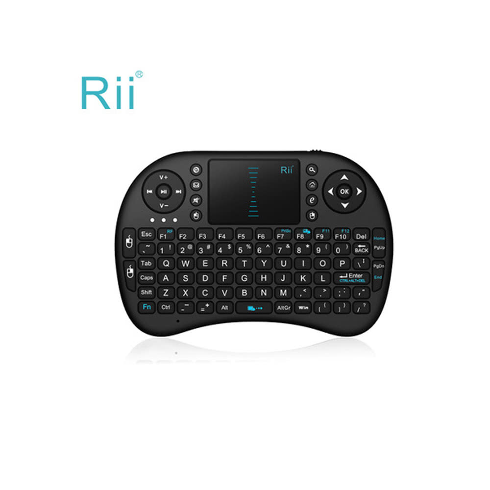 2 4G Rii Mini i8 Wireless Keyboard with Touchpad for PC Pad Google Andriod  TV Box Black