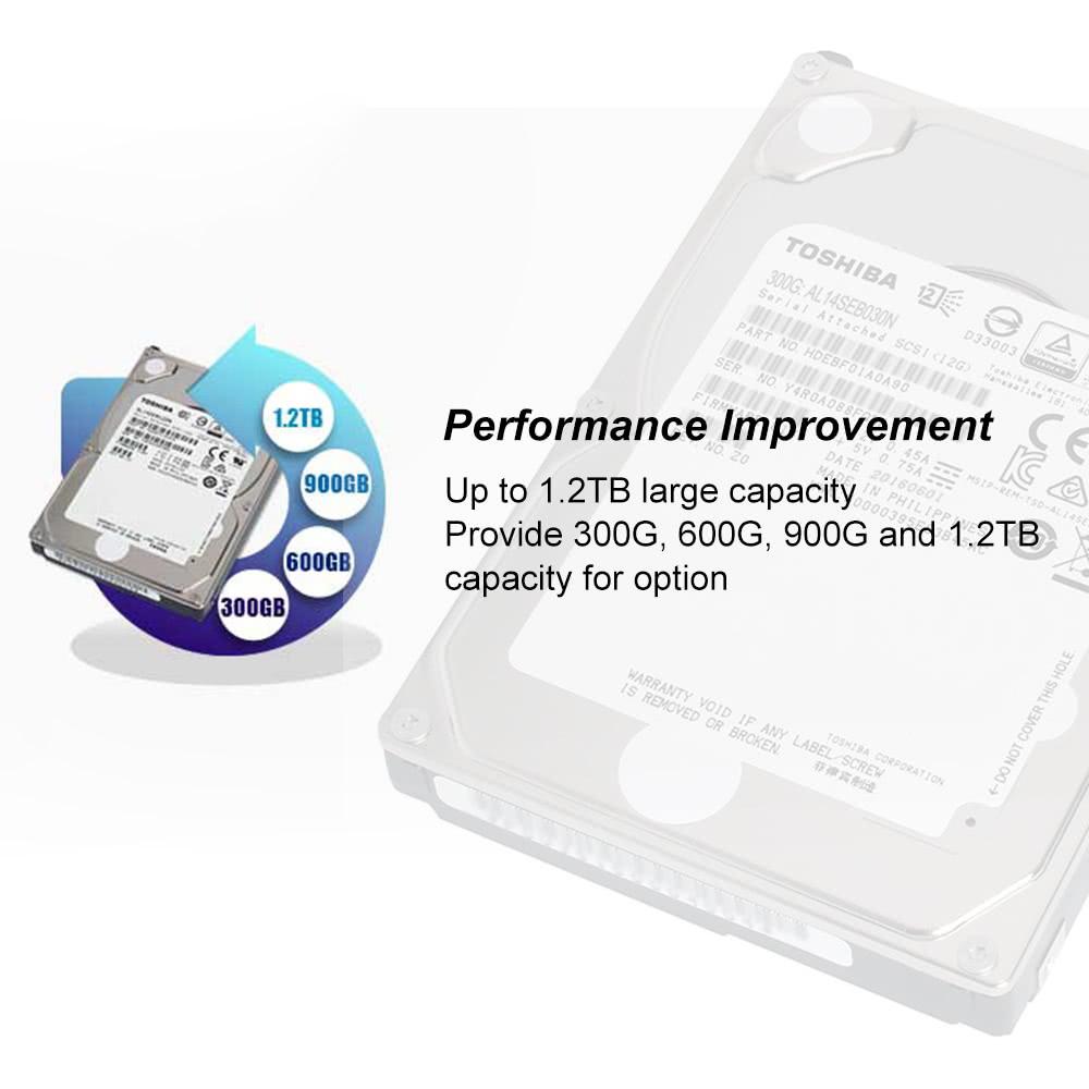 TOSHIBA 300GB Enterprise Capacity HDD Internal Hard Disk Drive 10,500 RPM  2 5-inch SAS3 0 12Gb/s 128MB Cache 2 5-inch AL14SEB030N