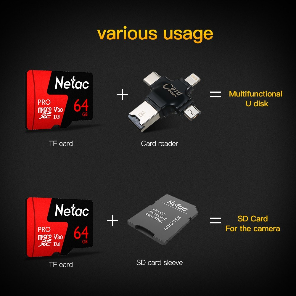5625-OFF-Netac-P500-PRO-64GB-Micro-SDXC-TF-Memory-Cardlimited-offer-241699