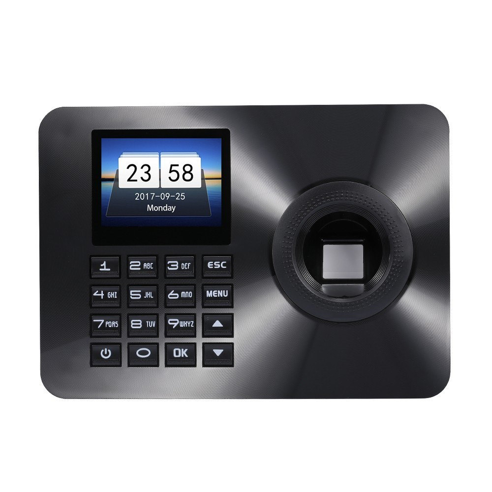 ZK-TA10 Time Attendance Fingerprint Recognition Password Lock Door Opener Access Control System 2.4inch Display UK Plug