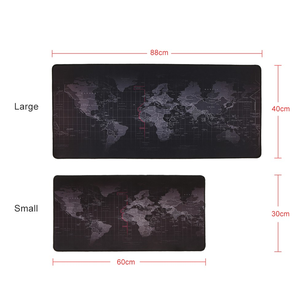 World map pattern gaming mouse pad non slip rubber base large desk world map pattern gaming mouse pad non slip rubber base large desk pad table mat extended mouse mat sales online l tomtop gumiabroncs Image collections