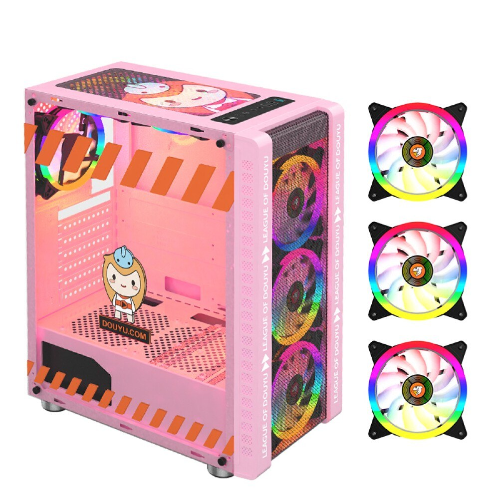 tomtop.com - 53% OFF 330-9 Gaming Computer Case Host Supports ATX MICROE ATX Motherboard 240mm Water Cooler Game Chassis Case RGB Pink, $84.99 (Inclusive of VAT)