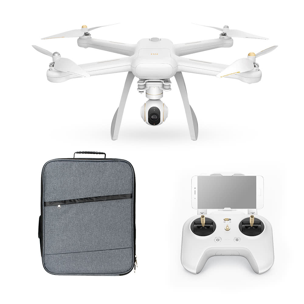 Original XIAOMI Mi Drone 4K Camera WiFi FPV 3-Axis Gimbal GPS RC Quadcopter  with Extra Soft Shell Backpack
