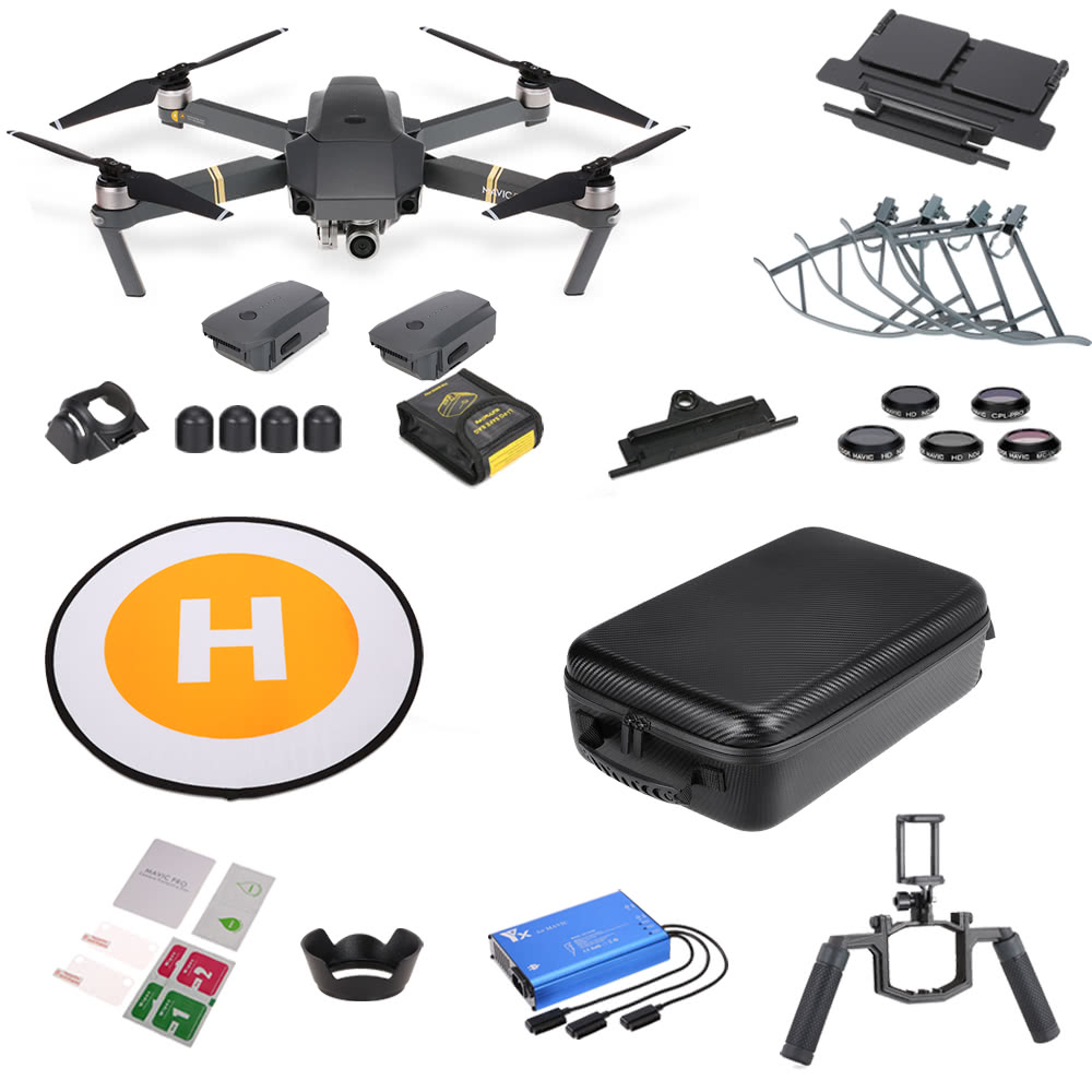 Dji Mavic Pro Fly More Combo With 13 In 1 Accessories Rc Part Kit For Sale Us14390 Eu Tomtop
