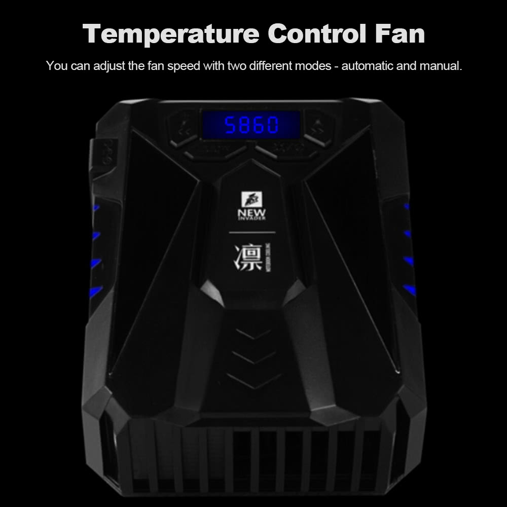 1STPLAYER DC1215BR Laptop Fan Cooler Notebook 4500RPM Speed E-sport Air  Extracting Rapid Cooling Dual Ball Bearing US Plug Black