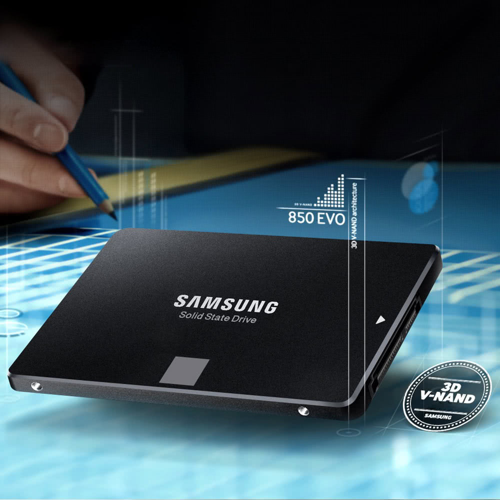 Samsung 850 EVO 1T 2.5-Inch SATA III 3.0 6Gbp/s Internal SSD Solid State Drive High Speed MZ-75E1T0B/CN