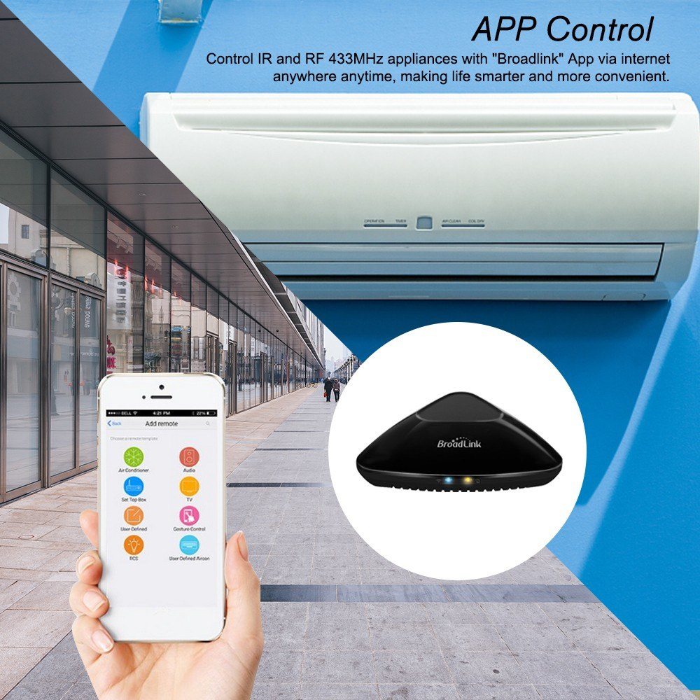 Broadlink RM Pro Upgraded Version RM33 RM Mini3 IR+RF+WiFi+4G Switch Home  Universal Intelligent Remote Controller