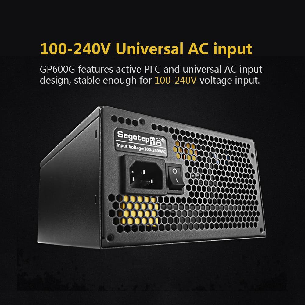 Segotep 500W GP600G Full Modular ATX PC Computer Power Supply Gaming ...