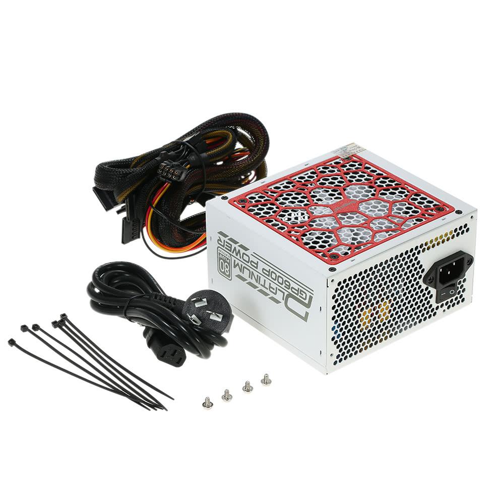 segotep 500w gp600p atx pc alimentation d 39 ordinateur jeux de bureau psu 80plus platine active. Black Bedroom Furniture Sets. Home Design Ideas