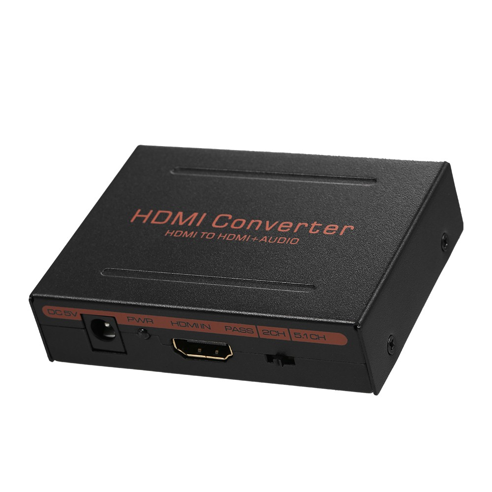 HD to HD and Optical Spdif + RCA L/R Audio Converter HD Audio Extractor  Splitter(HD In HD + Digital / Analog Audio Out)