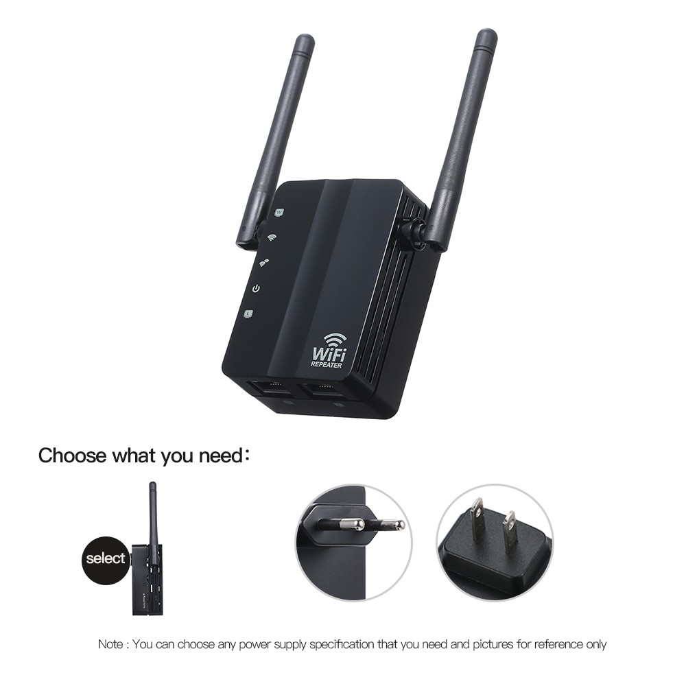 WiFi Repeater Wireless 300Mbps Router AP Mode WiFi Extender 2 4G Wireless  Repeater (Black) Sales Online eu - Tomtop