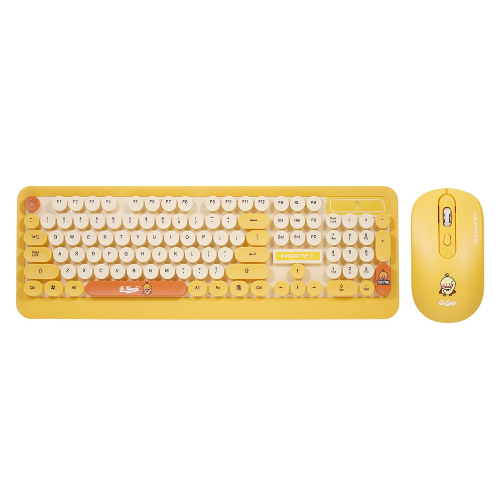 Tomtop - 39% OFF K68 2.4GHz Wireless Cute Retro Round Keycap Keyboard Mouse Set, Free Shipping $29.99