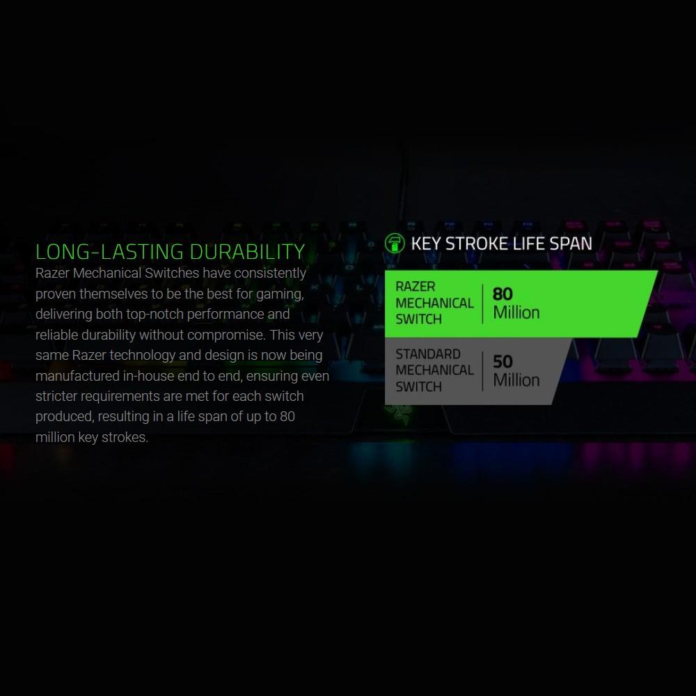 Razer BlackWidow X Chroma Gaming Keyboard Floating Mechanical Keyboard RGB  Backlight(White)