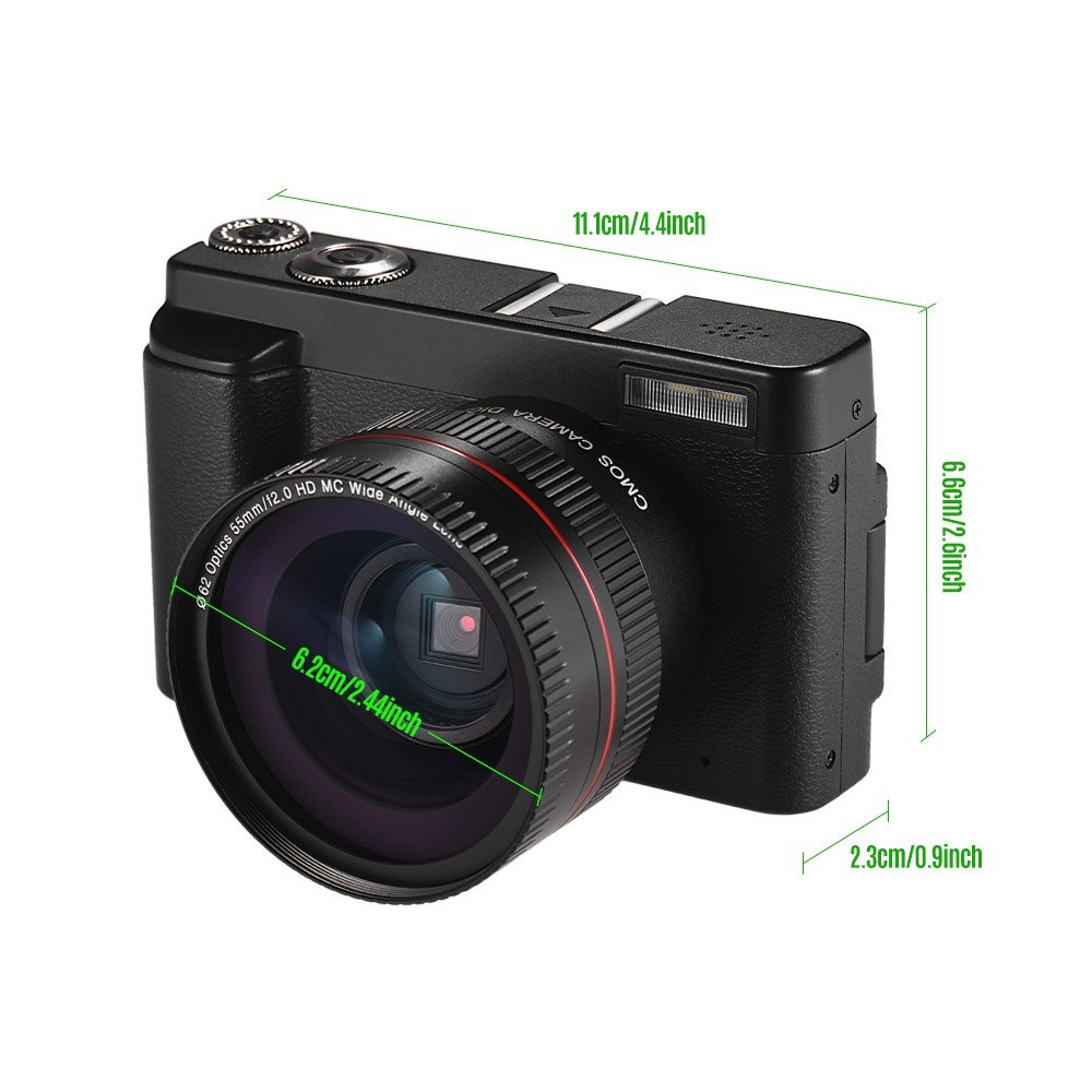 Full HD 1080P 24MP Portable Digital Camera DC with 3 Inch Screen Photo &  Video Shooting Support 16X Digital Zoom Wifi Connection Multiple Languages
