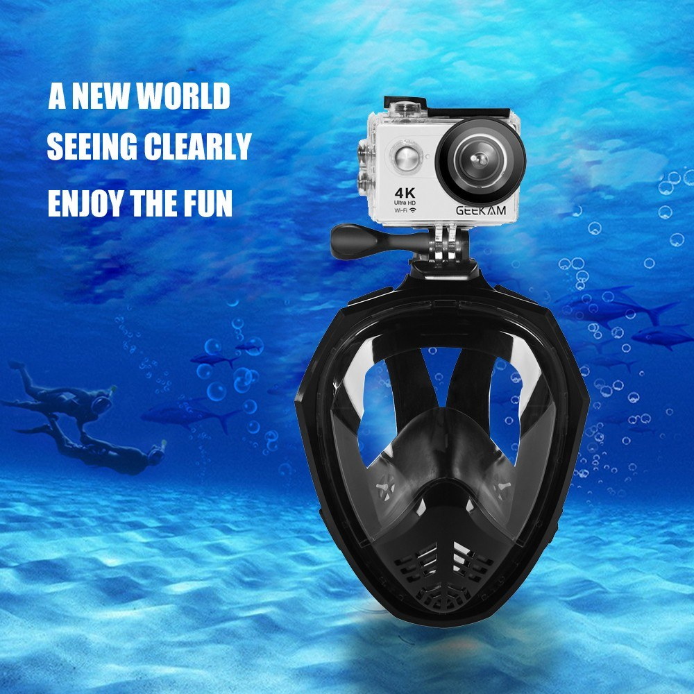 Full Face Detachable Dry Snorkeling Diving Mask