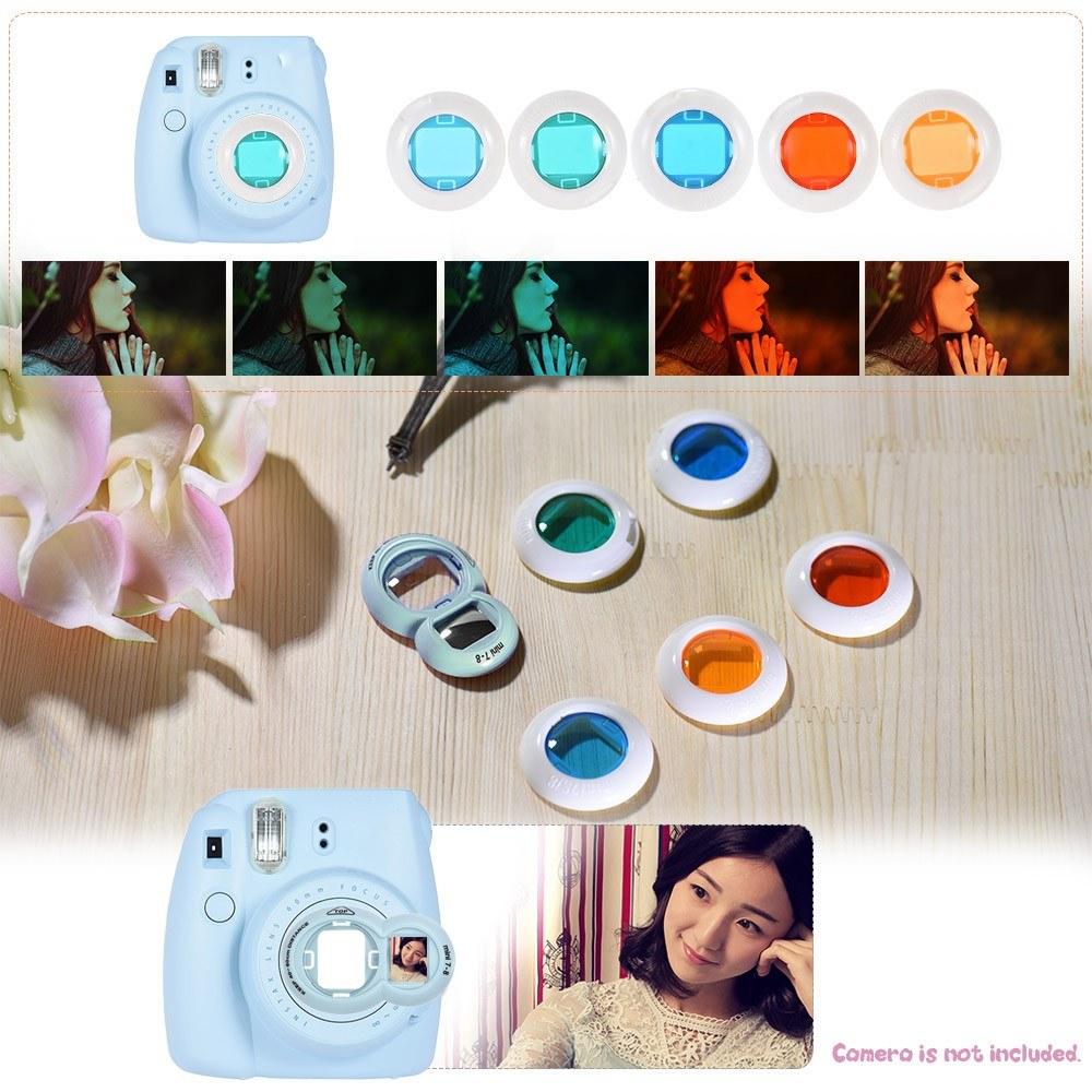 Andoer 14 in 1 Accessories Bundle for Fujifilm Instax Mini 8/8+/8s/9 with Camera Case/Strap/Sticker/Selfie Lens/Filter/Album/Photo Frame/Border Sticker/Corner Sticker/Pen, Blue