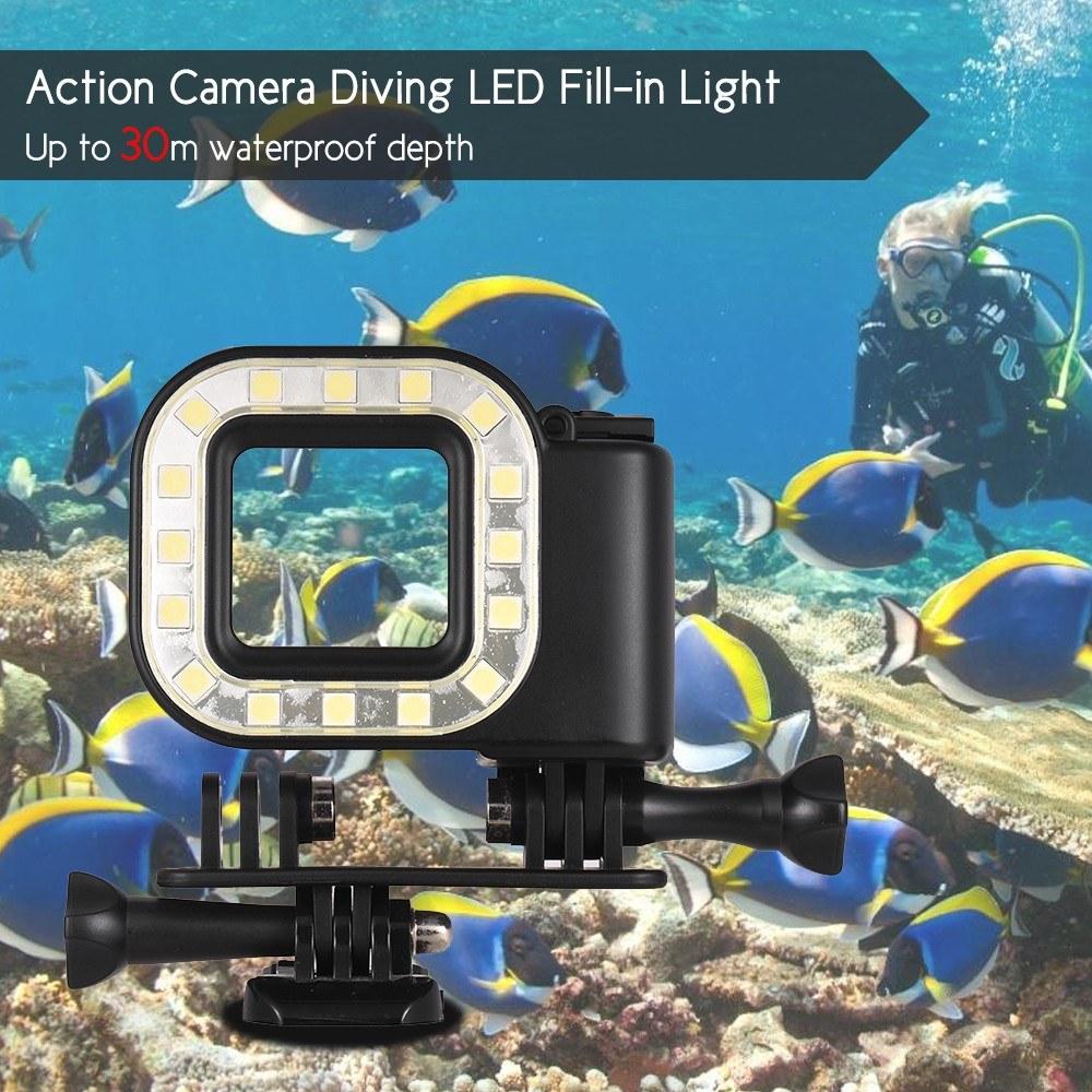 Sous 30m Lampe D'action Marine De 16pcs 300lm L'eau Led Modes Rechargeable Plongée Caméra Batterie D'éclairage Avec Pour wN0XPnOk8
