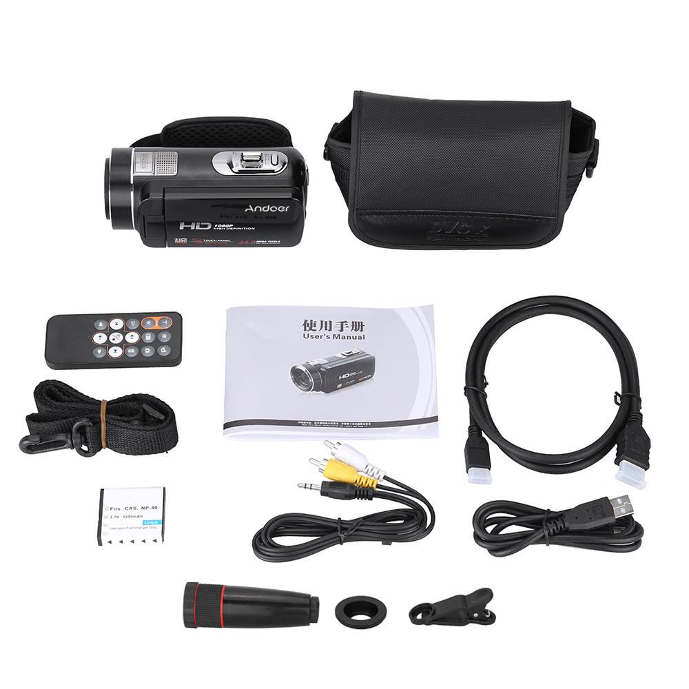 7292559ac069 Best Andoer HDV-Z8 1080P Full HD Digital Video Camera  2 Sale Online ...