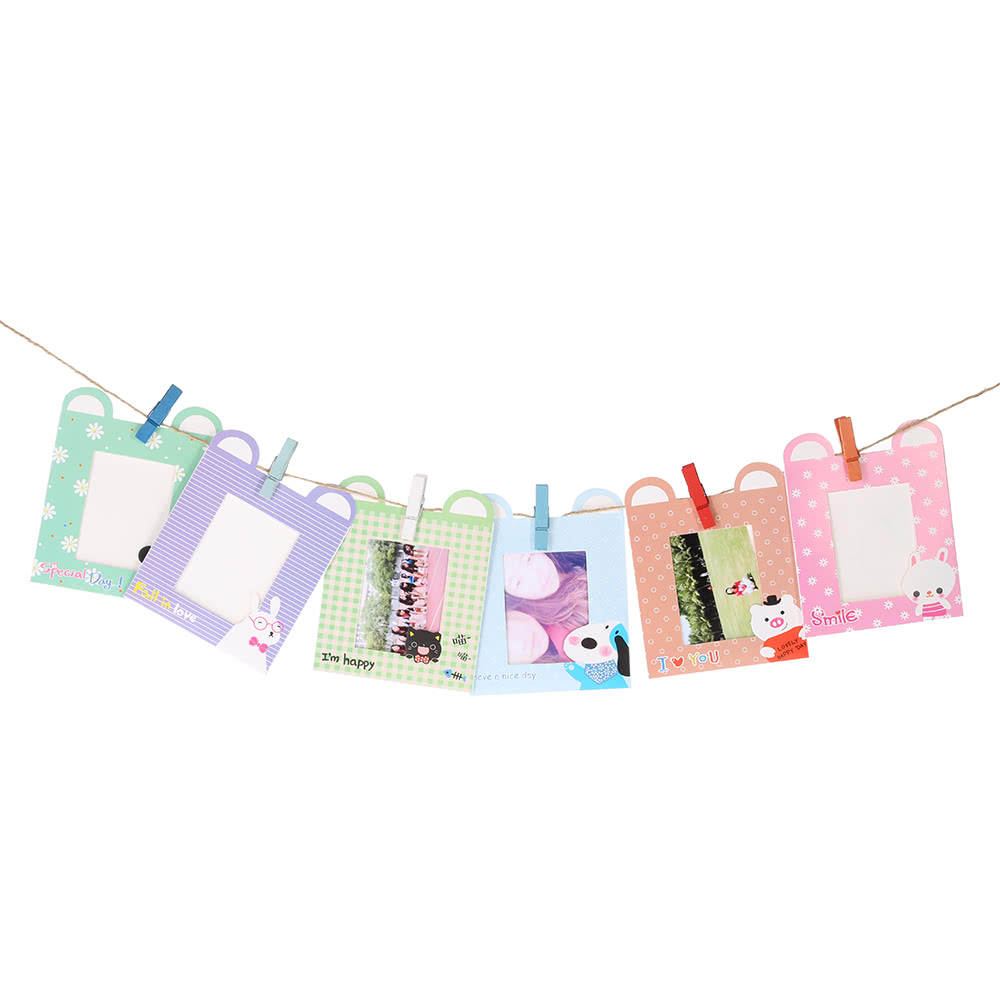 Camera Accessories Colorful Photo Picture Wall Hang Frame Clip Clamp String Rope for Fujifilm Instax Mini8/7s Girls' Gift Present