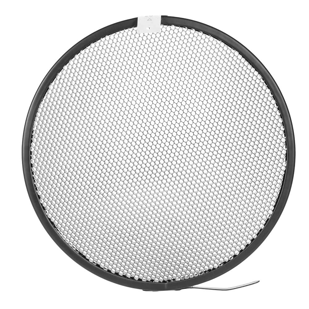 Haoge 7 Standard Reflector Diffuser Lamp Shade Dish For: Photo Studio 16.8cm 20 Degree Honeycomb Grid For 7