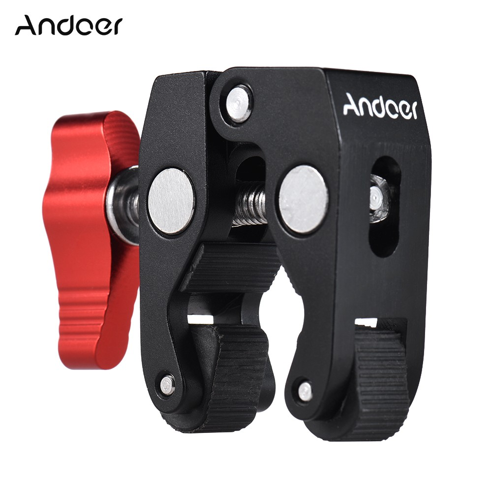 Andoer Crab Pliers Clip Super Clamp with 1/4\