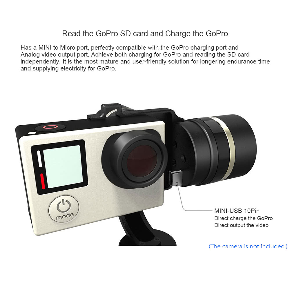 Best Feiyu G4s 3 Axis Handheld Gimbal 360 Degree Without Limited For Gopro Usb Wiring Diagram Please Read The User Manual Carefully To Master Correct Installation And Usage Before Using Joystick Function Button Will Be Disabled After