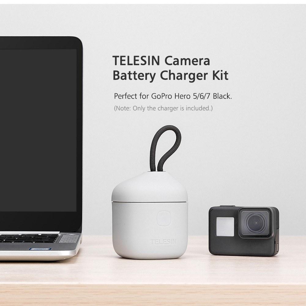 3-Akkus Ladegerät Micro SD TF Kartenleser mit Kabel Für GoPro Hero 7 6 5 Kamera