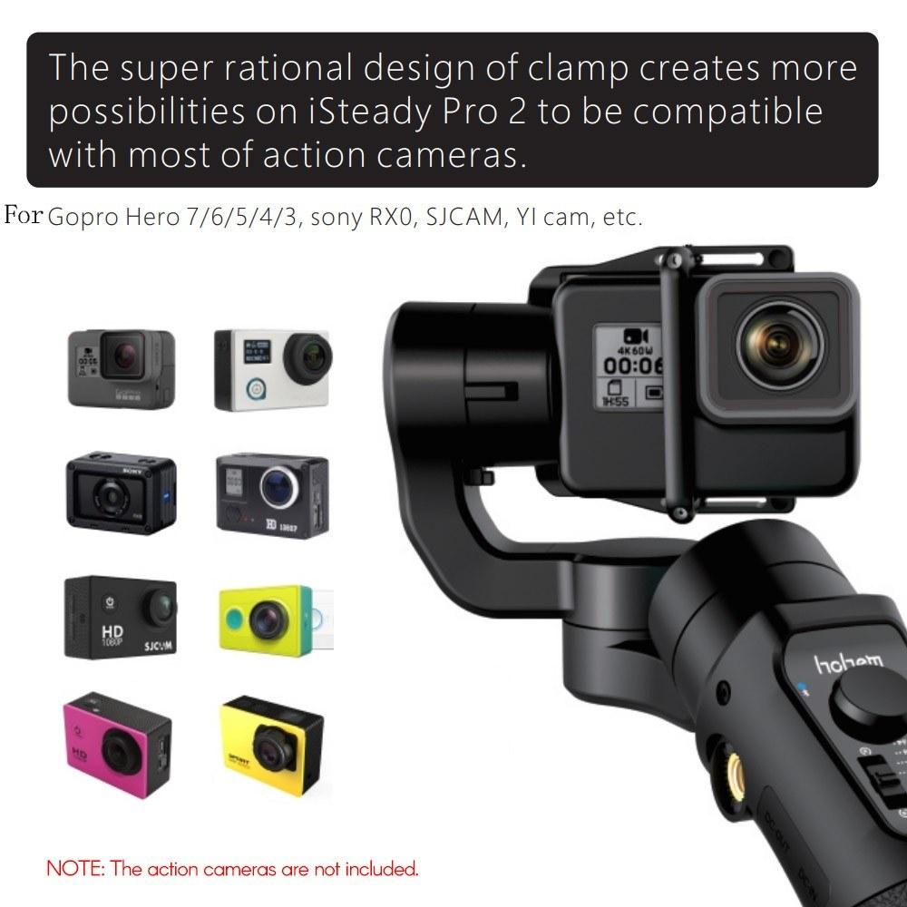 hohem iSteady Pro 2 Upgraded 3-Axis Handheld Action Camera Gimbal Stabilizer