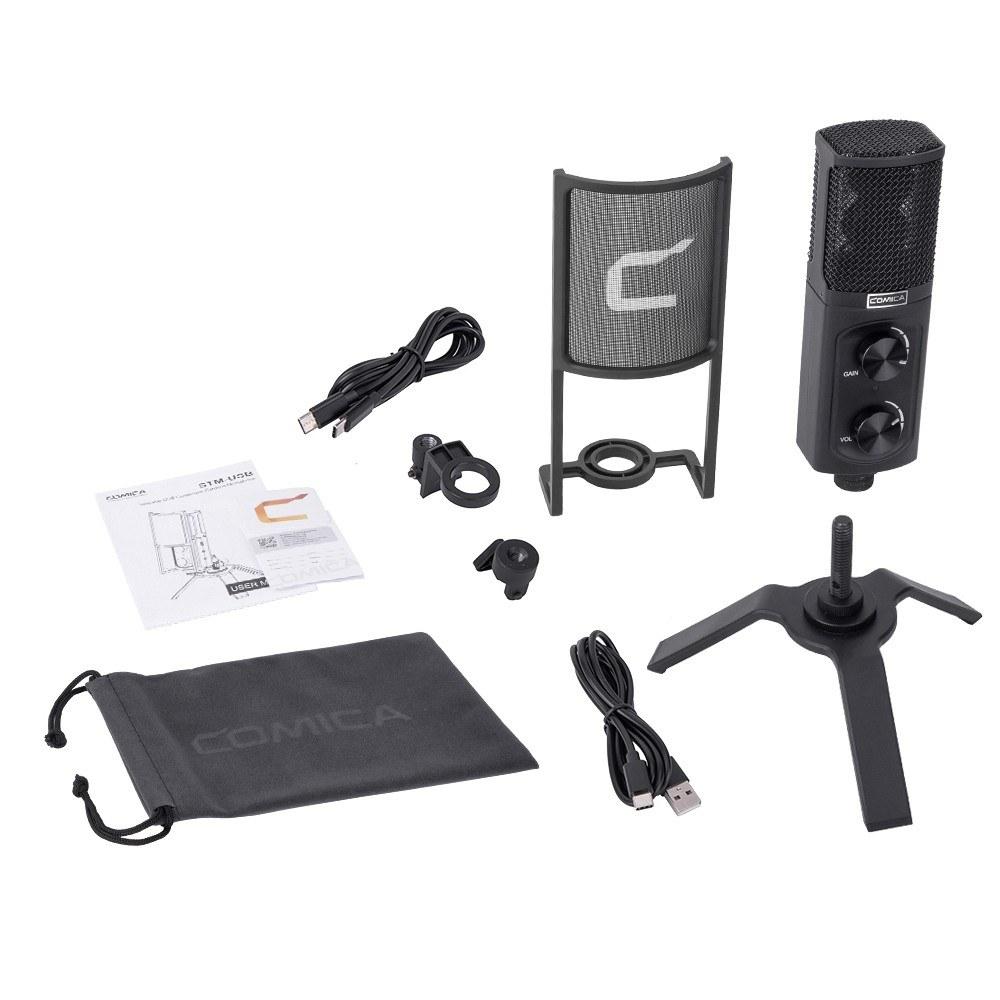 COMICA STM-USB Professionelles Desktop-USB-Mikrofon  Nieren-Kondensator-Mikrofon Typ C-Schnittstelle Sound in Studioqualität