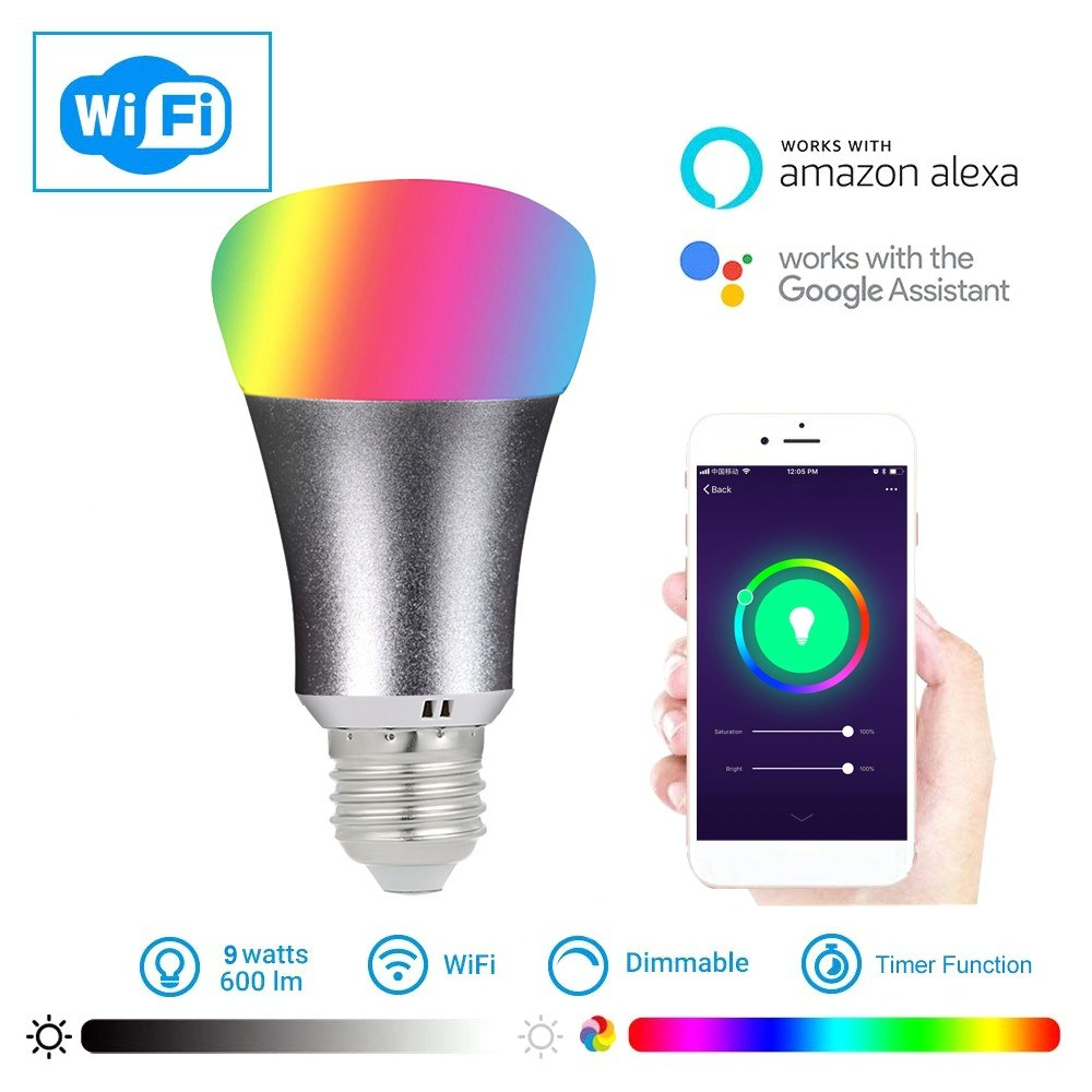 ee15b2810151 Best 9W E26/27 2105 Smart WIFI LED Bulb WIFI Light RGB e27 Sale Online  Shopping | Cafago.com