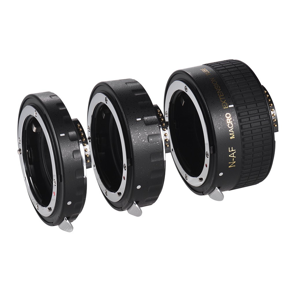 Auto Focus Macro Extension Tube Set Copper AF Macro Lens Extension Tube  Ring with Covers for Nikon D300 D7000 D7100 D7200 D800 D810 D850 D5500  D5600