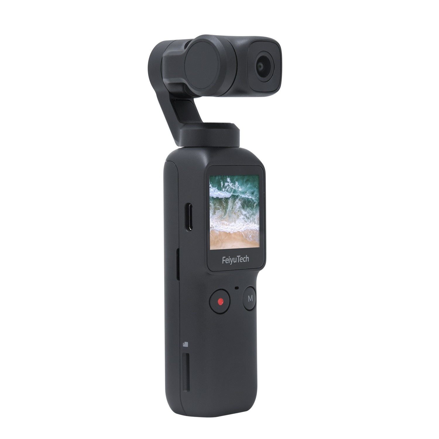 Feiyu Pocket 6-axis Stabilized Handheld Gimbal Camera 120° Ultra-Wide Angle Lens 4K/60fps Video Record Touchscreen